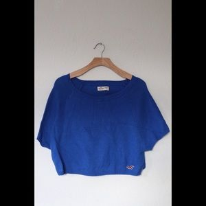 Hollister Cropped Short Sleeved Sweater